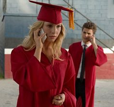 """The Vampire Diaries -- """"Graduation"""" -- Pictured (L-R): Nina Dobrev as Elena, Candice Accola as Caroline, and Paul Wesley as Stefan -- Image Number: — Photo: Curtis Baker/The CW -- © 2013 The CW Network, LLC. All rights reserved. Vampire Diaries Spoilers, Serie Vampire Diaries, Vampire Diaries Seasons, Vampire Diaries The Originals, Caroline Forbes, Stefan And Caroline, Candice Accola, Candice Swanepoel, Stefan Salvatore"""