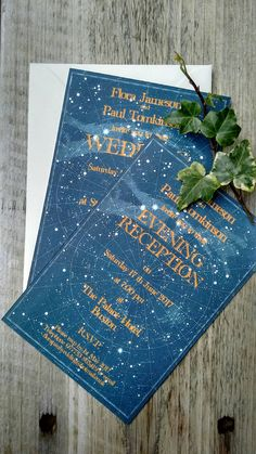 Celestial star chart wedding invitations, as featured in Perfect Wedding Magazine Maybe a clear acrylic invite with the constellations/this design in white and the letters in dusted blue or gold script . Wedding Themes, Wedding Cards, Wedding Decor, Wedding Ideas, Prom Themes, Wedding Inspiration, Wedding Blog, Vintage Wedding Invitations, Wedding Stationary