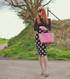 @Amber McNaught showing us how to rock this season's polka dot trend! http://www.foreveramber.co.uk