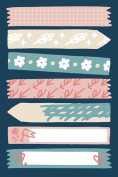 Patterned sticky tape Free Vector | Free Vector #Freepik #freevector #banner #flower #floral #label Planner Stickers, Journal Stickers, Printable Planner, Tumblr Stickers, Cute Stickers, Free Printable Stickers, Note Doodles, Bullet Journal Ideas Pages, Aesthetic Stickers