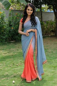 Aarushi in Saree