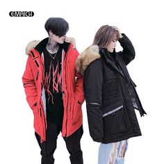 2017 Winter New Couples Jacket Men Fashion Casual Thicken Big Fur Collar Parkas Coat Women Male Cotton Padded Outerwear Jacket - Good Spark Shop Good Spark Shop
