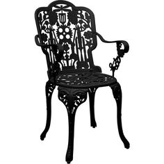 Seletti Industry Garden Armchair - Black (485 CAD) ❤ liked on Polyvore featuring home, outdoors, patio furniture, outdoor chairs, black, decor, black fillers, furniture, filler and outdoor garden furniture