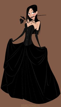 Black Dress by ~Blithegirl on deviantART ✤ || CHARACTER DESIGN REFERENCES | キャラクターデザイン • Find more at https://www.facebook.com/CharacterDesignReferences if you're looking for: #lineart #art #character #design #illustration #expressions #best #animation #drawing #archive #library #reference #anatomy #traditional #sketch #development #artist #pose #settei #gestures #how #to #tutorial #comics #conceptart #modelsheet #cartoon #clothes #woman #long #dress || ✤