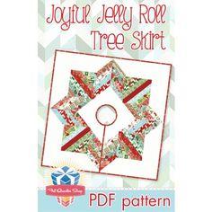Joyful Jelly Roll Tree Skirt PDF Quilt PatternFat Quarter Shop