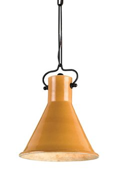 Rooke Mustard Pendant by Currey