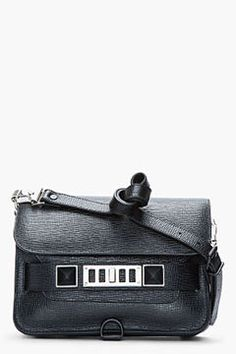 shopstyle.com: PROENZA SCHOULER Mini Black Textured Leather PS11 Shoulder Bag
