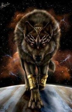 Anime Wolf, Artwork Lobo, Wolf Artwork, Wolf Love, Fantasy Wolf, Fantasy Art, Fantasy Creatures, Mythical Creatures, Wolf Spirit Animal