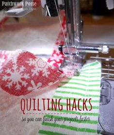 Discover 10 Quilting Hacks that you'll want to try right now - the half square…