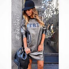 SILVER DRESS #new #collection #pyrex #pyrexstyle #pyrexoriginal #fallwinter16 #winterstyle #silverdress #diecidieci #napoli #store #dress #nothingbetter #wearingpyrex #streetstyle #godsavethestreet
