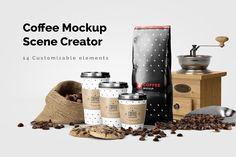 Coffee Mockup Scene Creator by kotulsky on @creativemarket