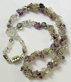 Jewelry in amethyst by Albina Polyanskaya