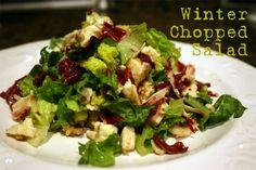 Winter Chopped Salad - apple, cranberries, pecans, Bleu cheese