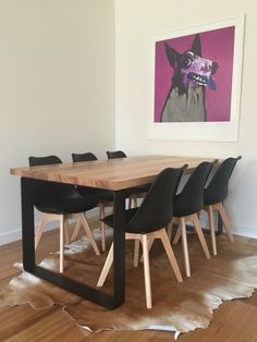 King dining Table Timber Dining Table, Dining Tables, Dining Room, Striped Walls, Table Furniture, Interior Ideas, Cnc, Restaurants, Outdoor