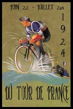 1924 Tour de France Bicycle Bike Cycles Race French Vintage Poster Repro Free SH | eBay