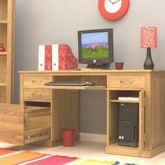 Mobel Oak Large Computer Desk