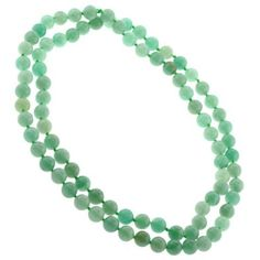 Beautiful Genuine Green Aventurine Necklace - Knotted - 8mm Beads - 32 Inch…