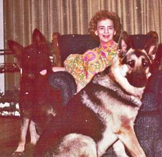 Betty and the German Shepherds after Michael left for Vietnam, from the novel, A Devil Singing Small.