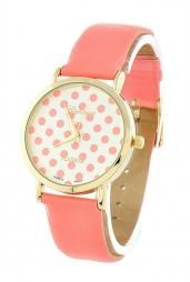 Moment in Time Polka Dot Pattern Dial Watch in Coral Pink #accessories #boutique #cuteAccessories
