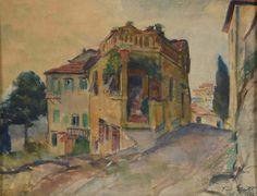"""Grott Teodor (1884-1972) """"Stare domy w Fiesole"""""""