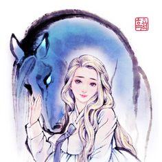 Elsa and Nokk by woohnayoung on DeviantArt Frozen Film, Frozen Art, Frozen Disney, Frozen Anime, Disney And Dreamworks, Disney Pixar, Walt Disney, Disney Queens, Korean Art