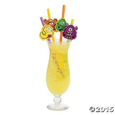 Monster Party Bendable Straws - 12 Pk Party Supplies Canada - Open A Party