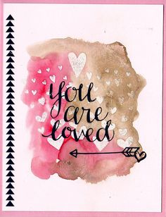 pink and gold Love Valentines, Valentine Cards, Greeting & Note Cards, Scrapbook Cards, Scrapbooking Ideas, Diy And Crafts, Paper Crafts, Creative Lettering, Simon Says Stamp
