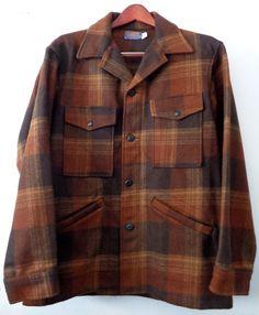 PENDLETON Brown Plaid Hunting Vintage Jacket Men's by Eagleages