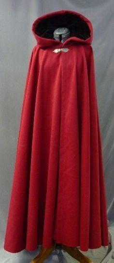 #Medieval #Hooded #Coat #Red