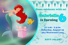 Ariel The Little Mermaid Happy Birthday Party by EDParty on Etsy, $5.00