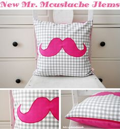 DIY Moustache Pillow...for my 11 year old :)