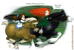 Pocket Princesses 9: My Little Pony  (if it makes you feel any better, Belle has the bareback handicap and Khan or Maximus would be faster still ;))