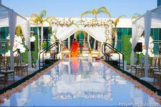 white mandap, #indianwedding  shaadishop.co PC: Braja Mandala Wedding Photography