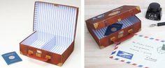 PAPERMAU: Suitcase Gift Box Paper Model - by Osamu Yamaguchi & Minya