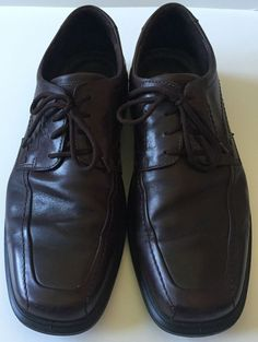 Ecco Mens Brown Leather Oxford Lace Up Dress Shoes size 46 // US 12-12.5 #ECCO #Oxfords