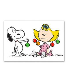 Another great find on #zulily! Snoopy & Sally Ornaments Gallery-Wrapped Canvas #zulilyfinds