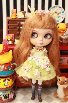 Blythe Fairy Tail Collection Flowers dress set by kuloft on Etsy, $45.00