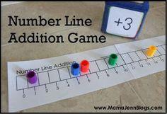 Number Line Addition Game
