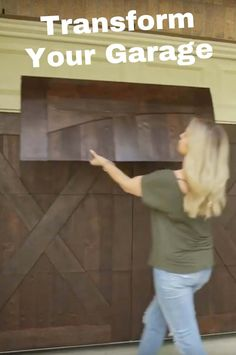 GarageSkins Give You a Wood Look Without the Cost Update your garage door with some simple wood panels or paint. Faux Wood Garage Door Diy, Garage Door Panels, Wood Garage Doors, Garage Door Design, Garage Flooring, Garage Cabinets, Diy Wood, Garage Door Makeover, Exterior Makeover