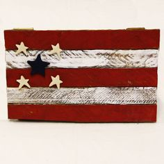 Small Tobacco Lath American Patriotic Flag