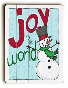Joy to the World Wood Sign
