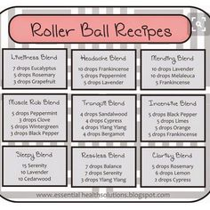 Essential Oil Roller Ball Recipes, To buy these or other doTERRA essential oils… Aromatherapy Recipes, Aromatherapy Oils, Healing Oils, Doterra Essential Oils, Essential Oil Blends, Doterra Blends, Roller Bottle Recipes, Balls Recipe, Young Living Oils