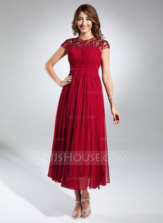 Homecoming Dresses - $134.99 - A-Line/Princess Scoop Neck Tea-Length Chiffon Tulle Homecoming Dress With Ruffle Lace Beading (022015324) http://jjshouse.com/A-Line-Princess-Scoop-Neck-Tea-Length-Chiffon-Tulle-Homecoming-Dress-With-Ruffle-Lace-Beading-022015324-g15324?snsref=pt&utm_content=pt