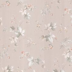 "Brewster Home Fashions Kitchen & Bath Resource III Lamott Satin 33' x 20.5"" Floral 3D Embossed Wallpaper"