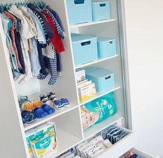 Baby Room Organization Bedrooms Dressers 59 Ideas For 2020 Baby Nursery Closet, Baby Bedroom, Baby Boy Rooms, Baby Room Decor, Baby Boy Nurseries, Deco Baby Shower, Baby Nursery Organization, Closet Organization, Basket Organization