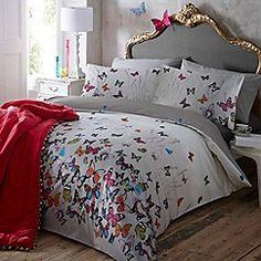 Butterfly Home by Matthew Williamson - Light grey 'Butterflies' bedding set