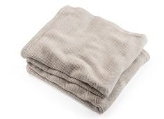 Cotton Herringbone Blanket Made in the USA by Brahms Mount