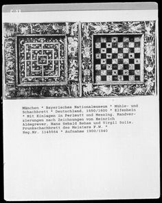Chess and Morris boards, 1550-1600