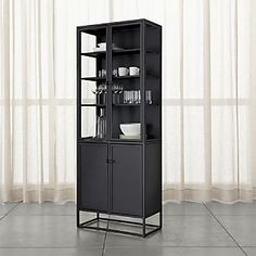 Casement Black Tall Cabinet