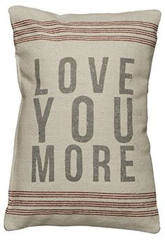 Primitives by Kathy 9-Stripe Love You More Linen Pillow, 10-Inch by 15.5-Inch Primitives By Kathy http://www.amazon.com/dp/B005R30C4Y/ref=cm_sw_r_pi_dp_Y-xawb1P37ZJN